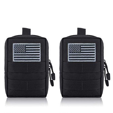 FUNANASUN 2 Pack Molle Pouches - Tactical Compact Water-Resistant