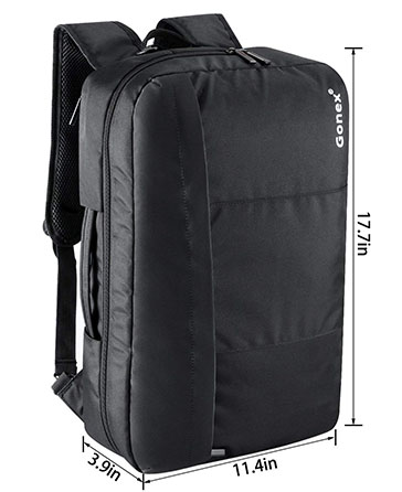 Laptop Briefcase Backpack, Gonex Unisex Convertible 15.6 Inch