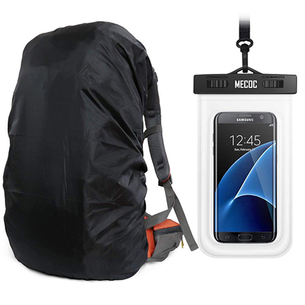 MECOC UltraLight Backpack Rain Cover & Cooling Towel