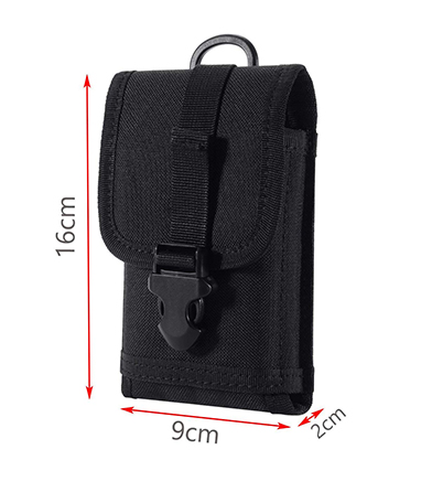 Zeato EDC Tactical Military MOLLE Phone Pouch Waist Clip-On Holster Bag
