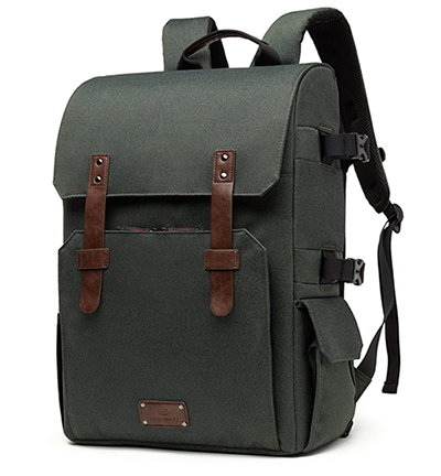Tripods Camera Backpack Retro Style Photography Bag by G-raphy for DSLR Cameras,15.6 Laptop Army Green