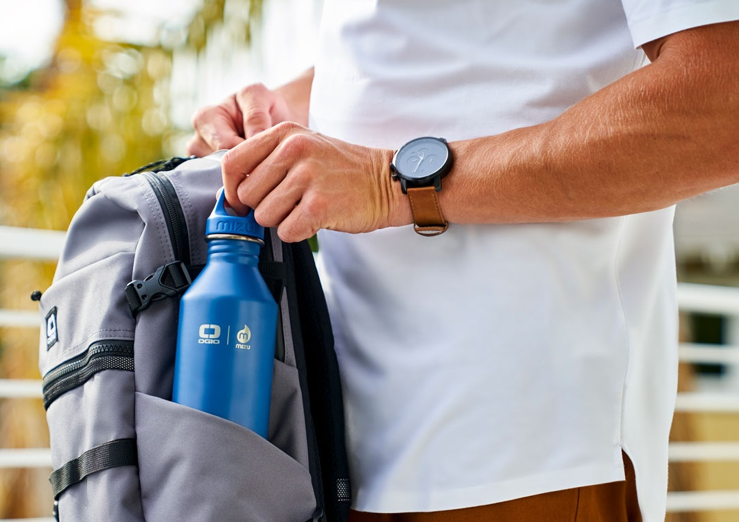 Stylish Backpack With Water Bottle Holder